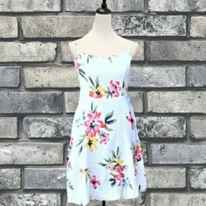 OLD NAVY FIT-FLARE FLORAL CAMI DRESS